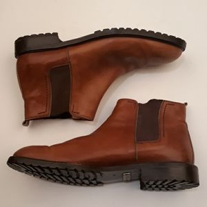 BALLY Italy Tan Brown Sz 8.5 M Chelsea Ankle Boots